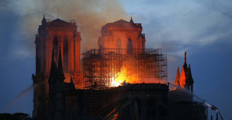 Dangerious Fire Engulfs Historic Notre Dame Cathedral
