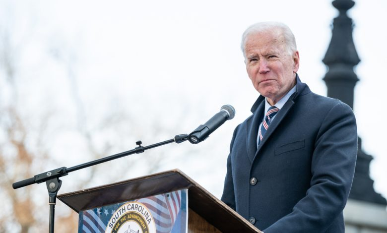 Presidential candidate Joe Biden at a rally.