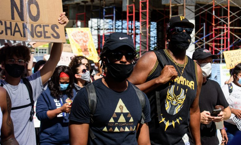 Black Lives Matter protesters in Florida.